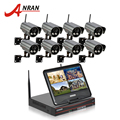 "ANRAN Plug And Play 8CH CCTV System Wireless NVR 10"" LCD 2TB HDD P2P 720P H.264 HD 2 Array IR Outdoor CCTV WIFI IP Camera"