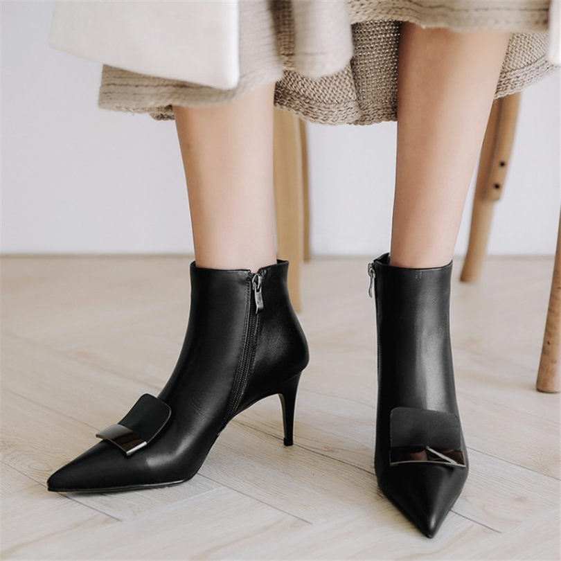 86267b57d24ac NAYIDUYUN US4-US10.5 New Shoes Womens Cow Leather High Heel Wedding Party  Pumps