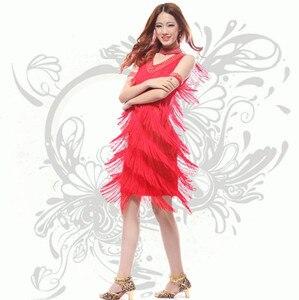 Image 3 - 2019 Vintage Bling Fashion V Neck 1920s Sequin Fringe Charleston Flapper Great Gatsby Stage Dance Clothing Dresses Wear Costumes