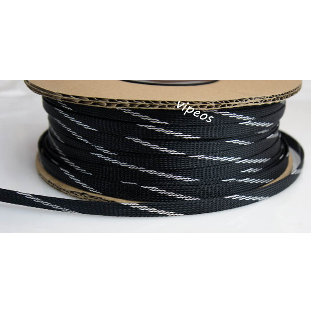 Detail Feedback Questions About 10meter Braided Cable 9 14mm Wiring Wire Harness Loom Protection Sleeving Silverblack On Alibaba Group