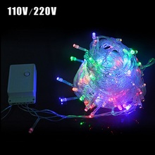 1Pack 9 Colors 10M LED Strip light Christmas/Wedding/Party/Festival WaterProof Decoration Holiday 100 LEDs String lamp 110V/220V