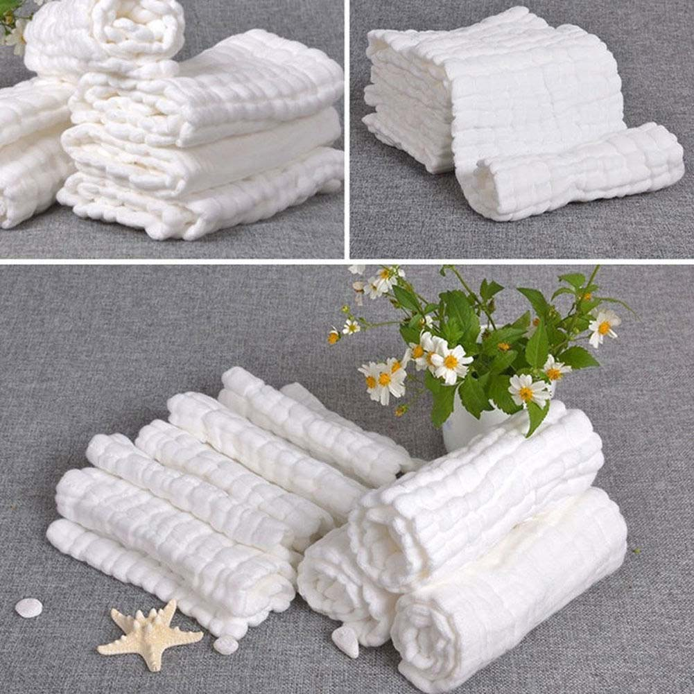1 Piece 29*29cm Baby Bath Towels 100% Cotton Gauze Solid New Born Baby Towels Ultra Soft Strong Water Absorption Baby Care