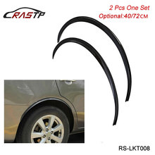 RASTP 2Pcs/set Carbon Fiber Style Fender Flares Universal Arch Wheel Eyebrows Protect Ant-Scratch RS-LKT008