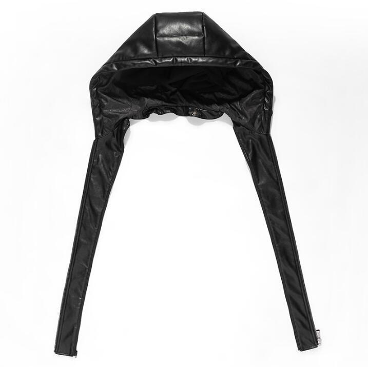 Горячая зима новая мужская брендовая кожаная одежда мужской пуховик длинный тонкий съемный капюшон толстые пальто корейское пальто с мехо... - 4