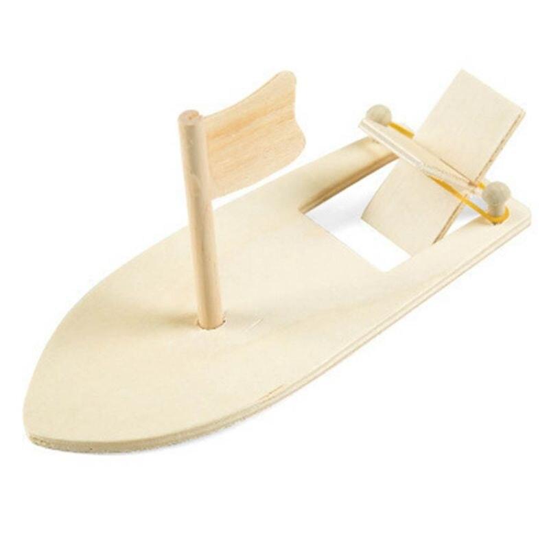 DIY Kits Wooden Sailboat Ship Model Painting Educational Children Kids Kindergarten Decoration Gift