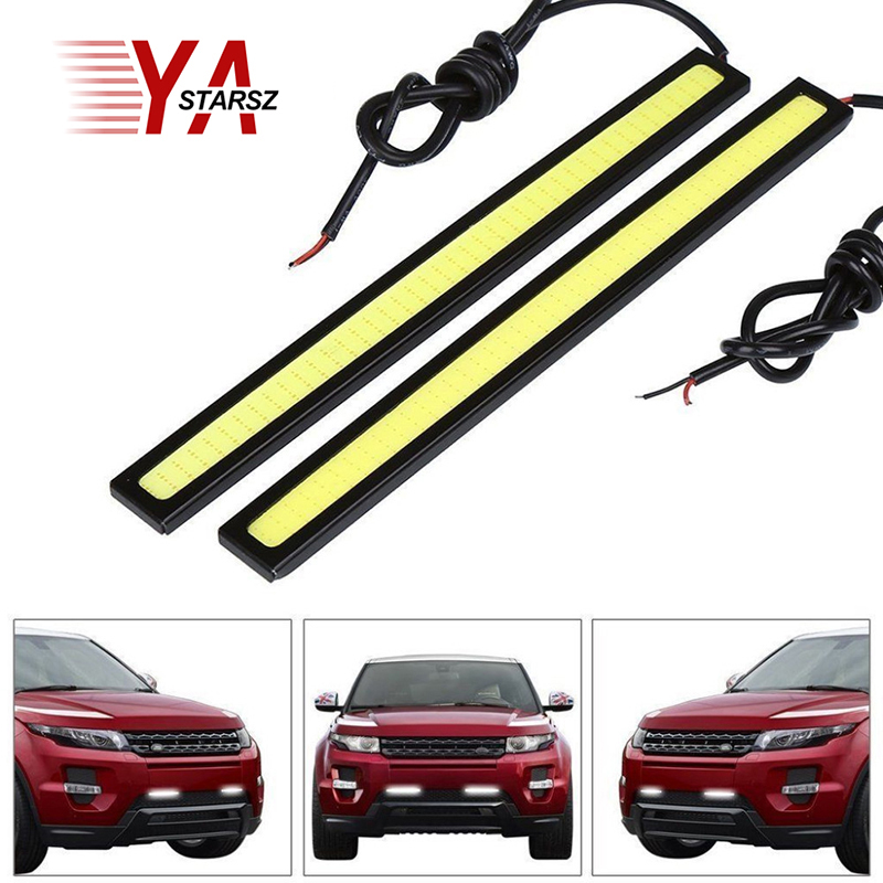 Car styling 1pcs Ultra Bright 12V 12W Daytime Running Lights 17cm Length Daylight COB Car LED