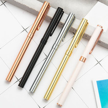 1pc New Metal Gift Multicolor Gel Pens 0.5mm Business Office Pen Student Stationery Daily Writing Birthday Gift Souvenir Gel Pen deluxe gel pen birthday gift pen