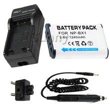 НП BX1 NPBX1 Батареи + Зарядное Устройство для Sony NP BX1, NP-BX1, NP-BX1/M8 Литий-Ионный Тип X 1240 мАч
