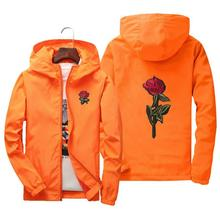 Jacket windbreaker men women rose college jackets 8 clolors