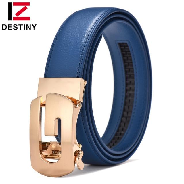 Destin concepteur ceintures hommes haute qualité argent or G ceinture mâle véritable bracelet en cuir de luxe célèbre marque mariage jean bleu vache