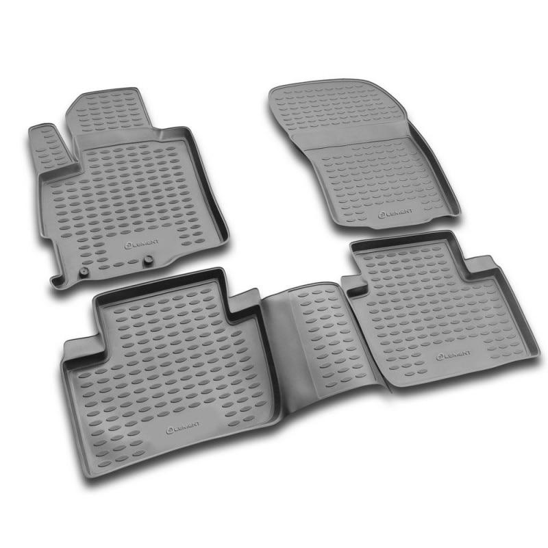Tappetino per MITSUBISHI Outlander XL 2005-2010-2010-2012 elastica di sicurezza flessibile pad (PU)