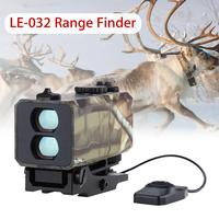700m Mini Tactical Outdoor Hunting Rangefinder Rifle Scope Sight Target Riflescope Mate Distance Meter Speed Measurer with Rail