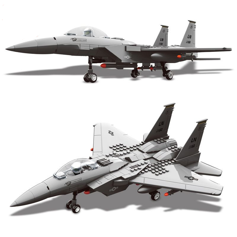262pcs Military Series F-15 Eagle Fighter Building Blocks Model Compatible With LegoINGLYs Airplane Set Bricks Toys For Kids262pcs Military Series F-15 Eagle Fighter Building Blocks Model Compatible With LegoINGLYs Airplane Set Bricks Toys For Kids