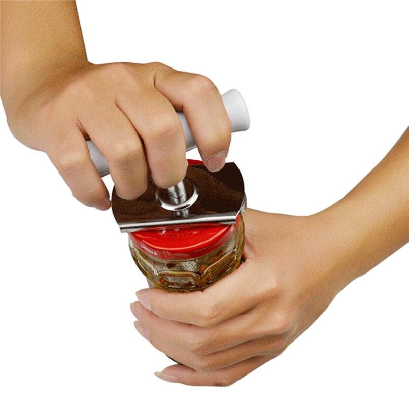 Handy Anti slip Can Bottle Opener Screw Cap Opener for Pop Beer Bottle Jar Kitchen