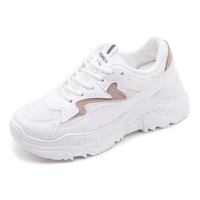 2020 kobiet buty jesień białe buty trampki kobiety moda marka Retro platformy buty buty damskie oddychające siatkowe trampki