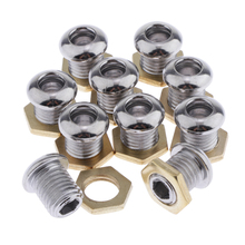 цена на 10pcs Drum Brass Air Vent With Gasket Bass Tom Snare Drum Parts Accessories 1/2