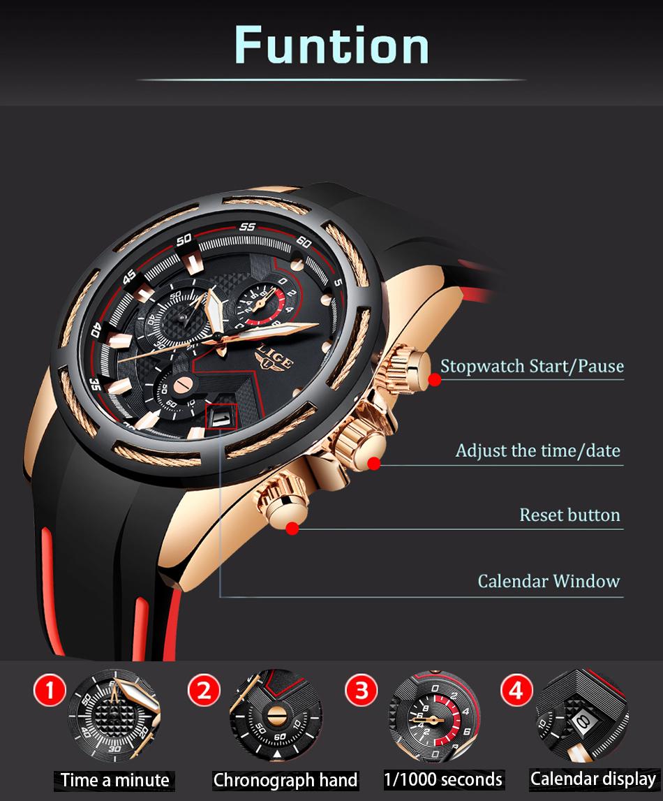 LIGE Reloj deportivo 5
