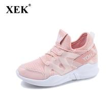 Xek лето-осень женские кроссовки увеличивающая рост женская спортивная обувь дышащие уличные кроссовки ST208