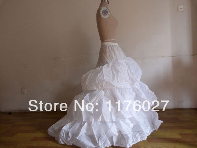 0f59d28d3d 2017 Quality Bride 3 Layers Skirt Petticoat Wedding Dress Underskirt Train  Drop Shipping PT0019-in Petticoats from Weddings & Events
