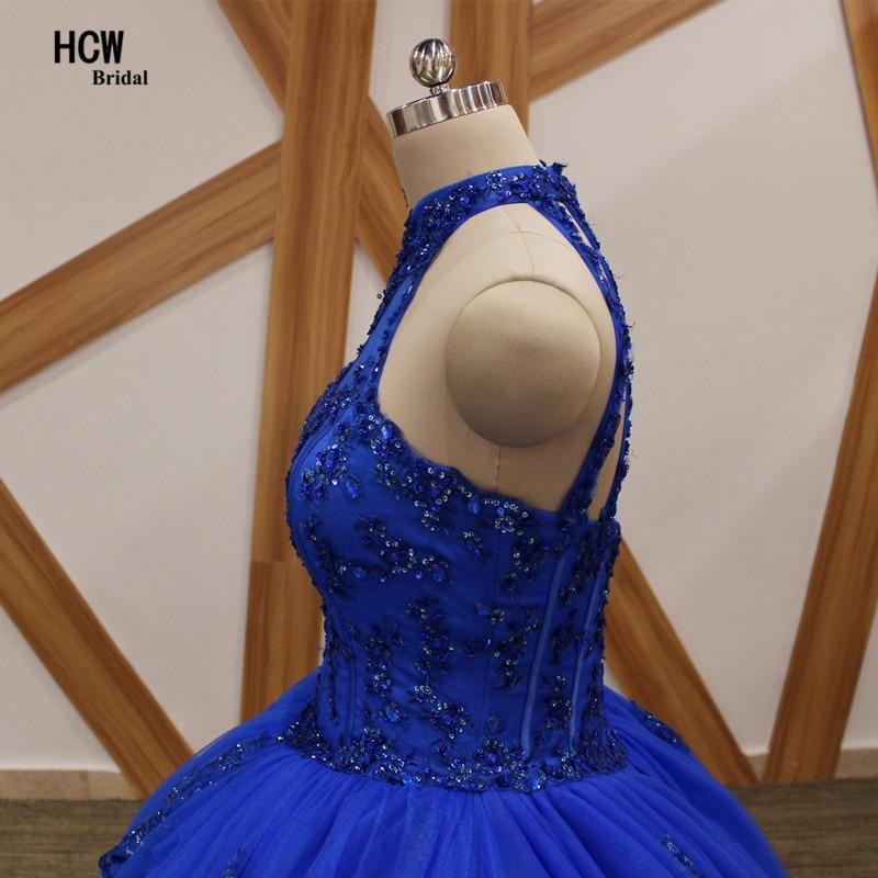 Kuninglikud sinised Quinceanera kleidid 2018 päitsed lahtised tagasi - Eriürituste kleidid - Foto 5