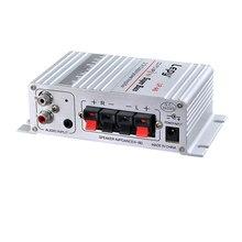 Lepy Авто Мото MP3 MP4 Hi Fi стерео аудио мини усилитель 12V 2A