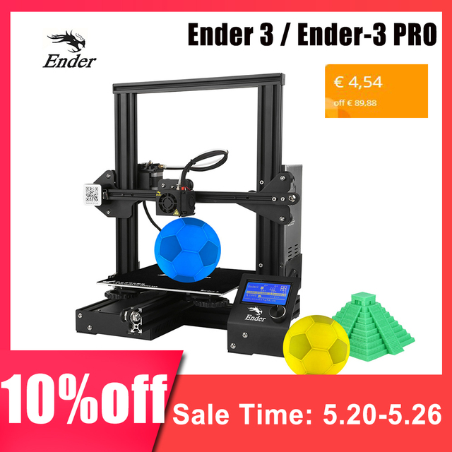 Creality 3D New Ender 3 / Ender-3 PRO DIY 3D Printer Ender-3 Self-assemble 220 * 220 * 250mm Printing Size with Resume Printing
