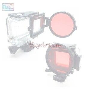 Image 2 - 67 58 52 มม.กันน้ำสีแดงสำหรับกล้อง Gopro Xiaomi Yi ดำน้ำถ่ายภาพใต้น้ำ 52 มม.58 มม. 67 มม.M67