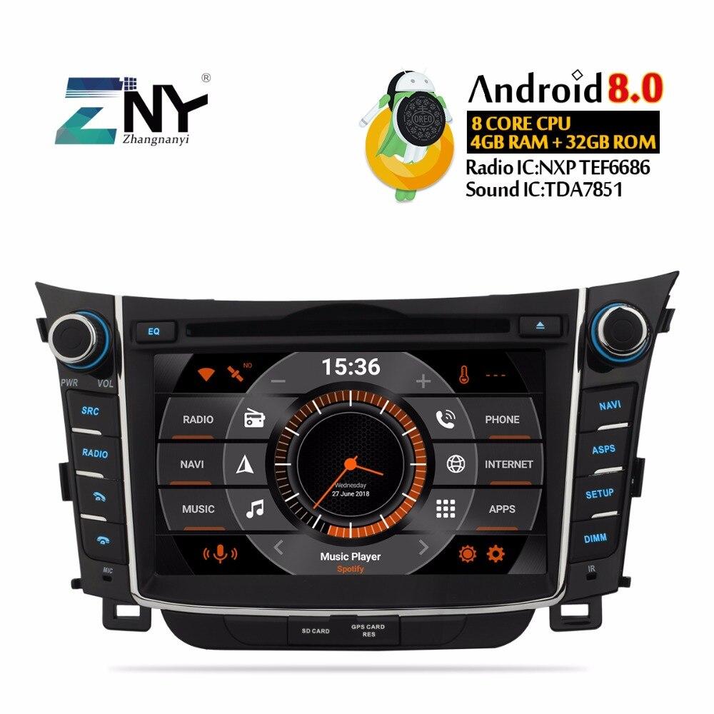 7 HD Android 8 0 Car DVD For Hyundai I30 Elantra GT 2012 2013 2014 2015