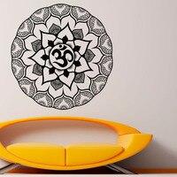 DCTOP Indiano Mandala Padrão Preto Flor Adesivo de Parede de Vinil Adesivo Removível Decalques Da Parede Para O Quarto Sala de estar