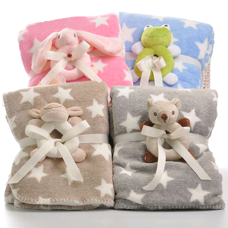 SUPERSOFT CORAL FLEECE BABY BLANKET 6 DESIGNS NEW BORN BABIES NURSEY GIFT