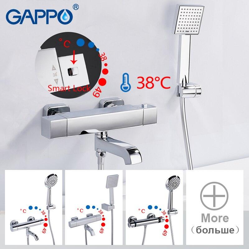 GAPPO Shower Faucets thermostatic shower faucet bathroom bathtub faucet taps bath shower mixer set waterfall shower