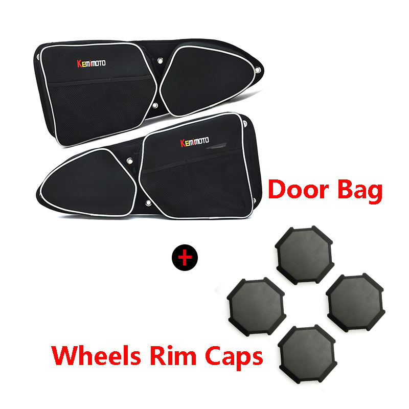 KEMiMOTO UTV for Polaris RZR 900  RZR XP 1000 XP 4 1000 Turbo Door Storage Bag Knee Pad BID Tire Rim Wheel Hub Center Cap Cover