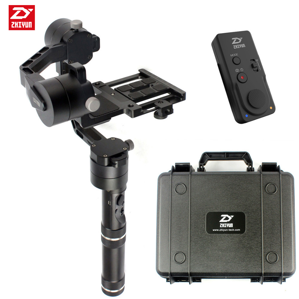 Zhiyun Crane Handheld Stabilizer gimbal With Case ZW-B02/ZW-B01 Remote Controller for DSLR Canon Cameras Support 1.8KG afi vs 3sd handheld 3 axle brushless handheld steady gimbal stabilizer for canon 5d 6d 7d for sony for gh4 dslr q20185