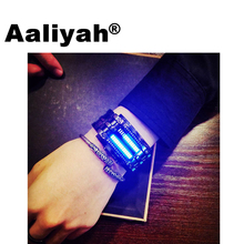 Aaliyah 2017 New Fashion Creative Luxury Lovers Wristwatch Men Women Binary Luminous LED Electronic Waterproof Sport Smart Watch new snake table wholesale fashion jewelry for men and women present binary watch for waterproof led lovers steel band watch