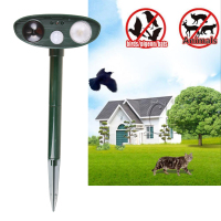 2017 Newest Ultrasonic Solar Power Cat Dog Repeller Outdoor Garden Infrared Sensor Animal Scarer Garden Accessories