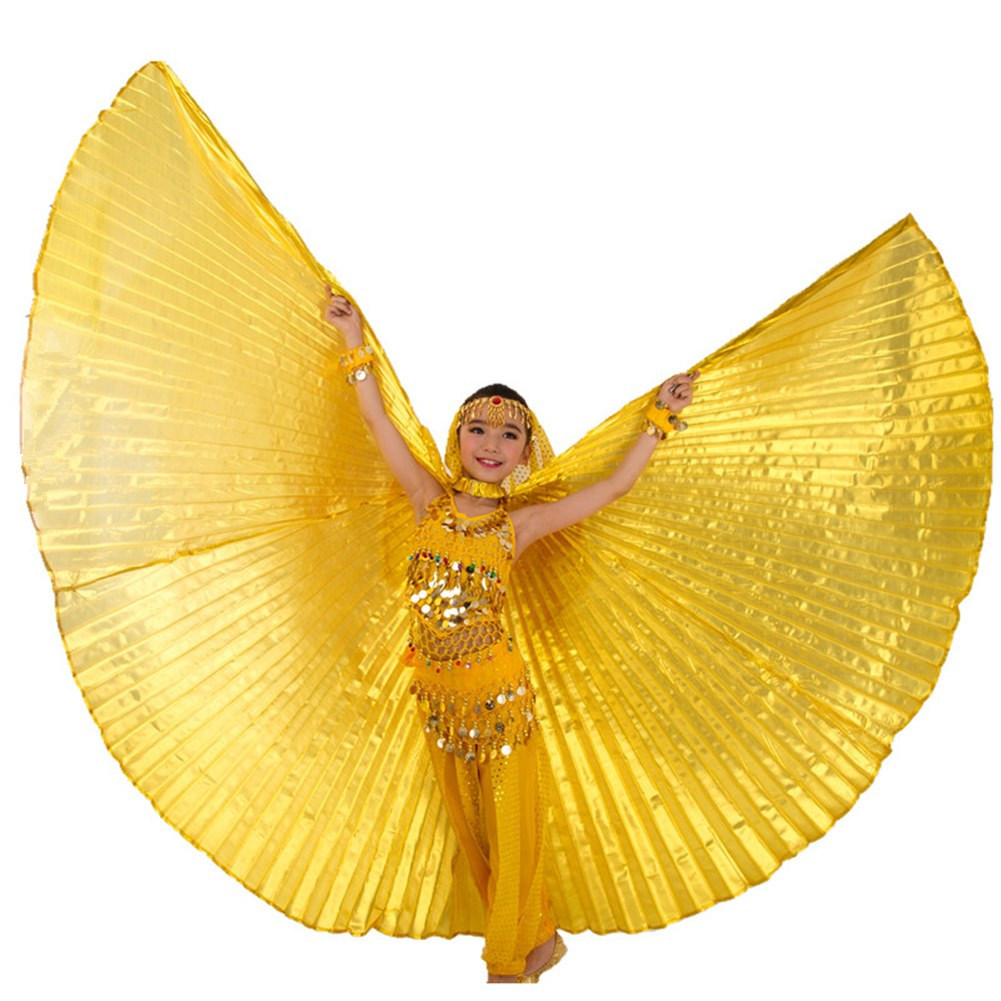 Belly Dance Costume Wings Kids Isis Wings Children Belly Dancing Bollywood Gypsy Girls Bellydance Wings 11 Colors Sticks Bag