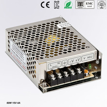 Small Volume Single Output mini size Switching power supply 15V 4A ac dc LED smps 60w output Free shipping MS-60-15