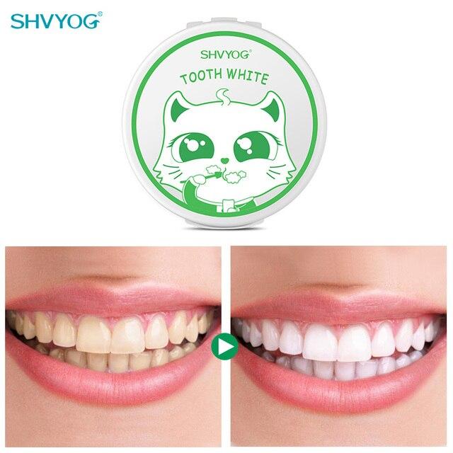 SHVYOG Teeth Whitening Powder Remove Smoke Coffee Tea Stains Whitener Tooth Powder Fresh Breath Lasting Freshing Daily Wash Use