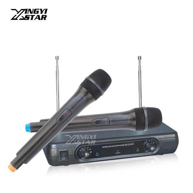Microfono Inalambrico Professional ручной динамический микрофон беспроводной микрофон системы майка для ПК караоке микшер Sem Fio