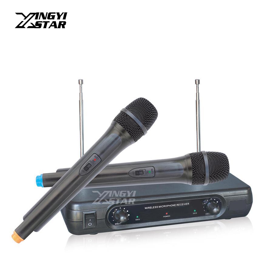 Microfono Inalambrico Professional Handheld Dynamic Mic Wireless Microphone System Mike For PC Karaoke Mixer Microfone Sem Fio professional handheld dynamic karaoke mic vhf wireless microphone system with receiver for ktv fio microfone mikrofon microfono