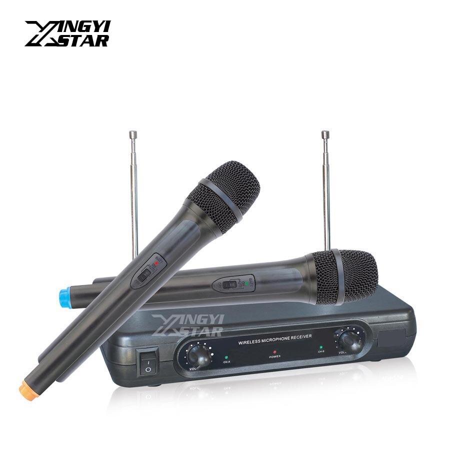 Microfono Inalambrico Professionale Palmare Microfono Dinamico Sistema per Microfono Wireless Mike Per PC Mixer Karaoke Microfone Sem Fio
