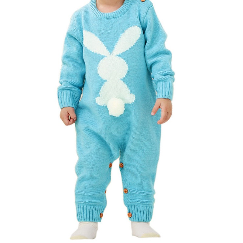 HTB1VRM1XcrrK1RjSspaq6AREXXaZ Baby Rompers Set Newborn Rabbit Baby Jumpsuit Overall Long Sleevele Baby Boys Clothes Autumn Knitted Girls Baby Casual Clothes