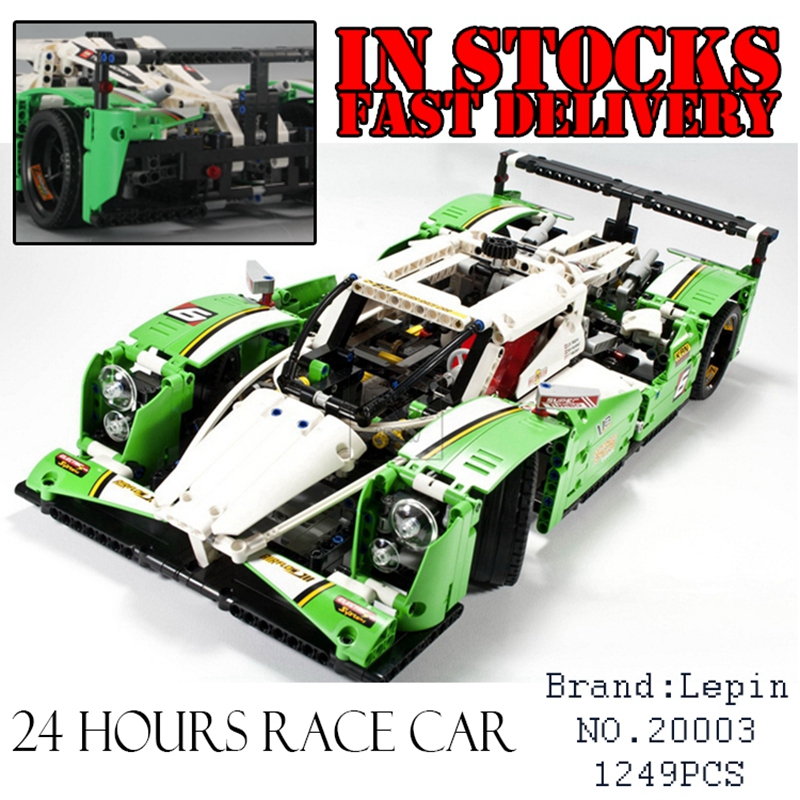 LEPIN 20003 Technic Series The 24 hours Race Car Building Assembling Blocks Bricks 1280 pcs Toys Compatible with 42039 lepin technic city series 24 hours race car building blocks bricks model kids toys marvel compatible legoe