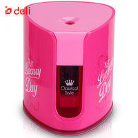 Deli Electric Pencil Sharpener Automatic Sacapuntas School Office Stationery Supplies Students Pencil Cutters Classical Style