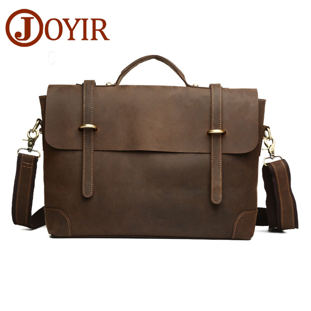 Genuine leather briefcase men Casual male Handbags Crazy horse leather Men bags Laptop Tote Briefcases Crossbody bags Travel Bag contact s genuine leather men bag casual handbags cowhide crossbody bags men s travel bags tote laptop briefcases men bag new