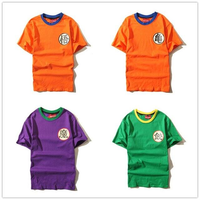eaccad4b0 Dragon Ball Z Goku mestre kame Piccolo cosplay projeto Chiaotzu Anime  Dragonball verão cobre T camisetas