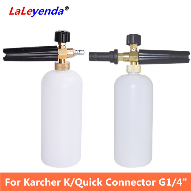 LaLeyenda High Pressure Soap Foamer Sprayer Generator Gun for Karcher K2-K7/ Quick Connector Cannon G1/4