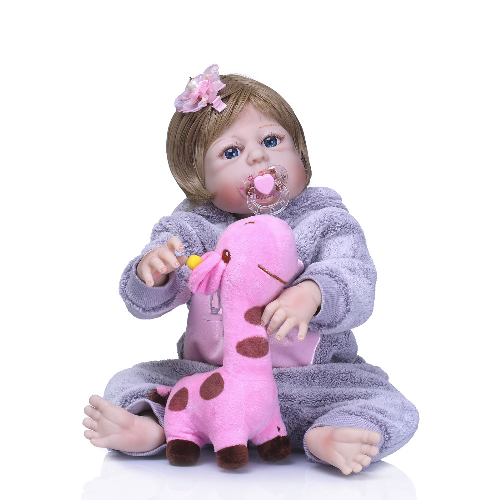 Nicery 22inch 55cm Bebe Reborn Doll Hard Silicone Boy Girl Toy Reborn Baby Doll Gift for Child Pink Giraffe Toy Baby DollNicery 22inch 55cm Bebe Reborn Doll Hard Silicone Boy Girl Toy Reborn Baby Doll Gift for Child Pink Giraffe Toy Baby Doll