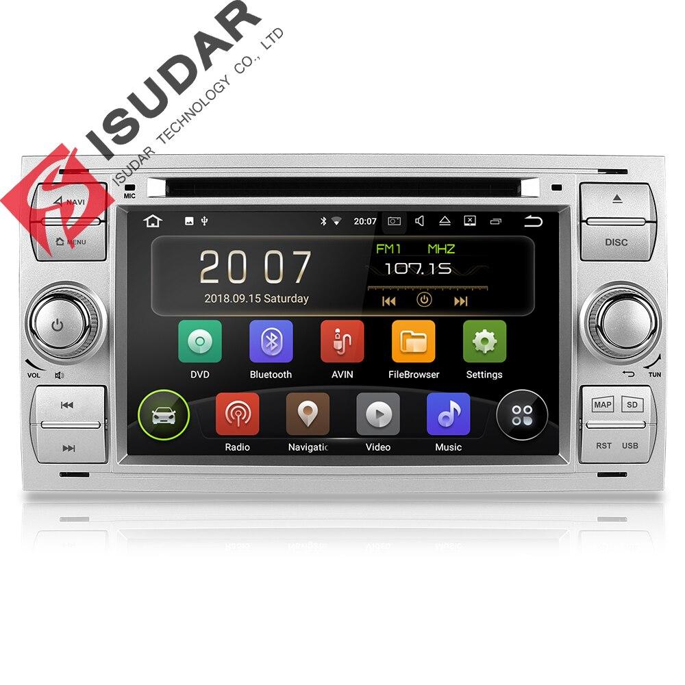 Isudar lecteur multimédia Android 8.1 lecteur dvd De Voiture Deux Din 7 Pouces Pour Ford/Focus/Mondeo/C-MAX/S-MAX /Fiesta SPG Radio