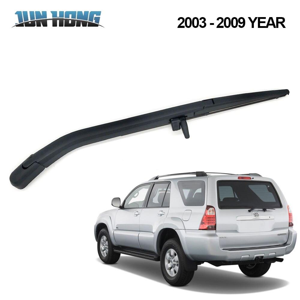 JunHong Rear Wiper Blade And Arm For TOYOTA 4 Runner 2003-2009 Windscreen Rubber Car Accessories Rear Window